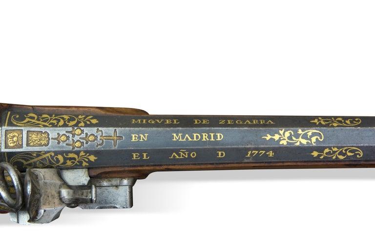 Neoclassical Arquebus. Miguel de Zegarra. Madrid, Spain, 1773-1774. For Sale