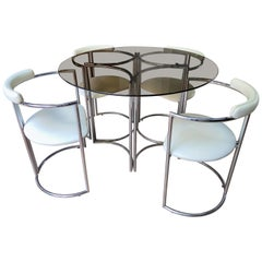 Arredo Paderno, Set of Table and 4 Chairs Set, Italy, 1972