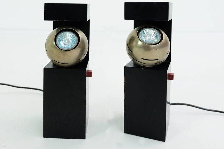 Italian Arredoluce, Angelo Lelii, Table Lamps Mod 12918 Contrast, 1962, Italy For Sale