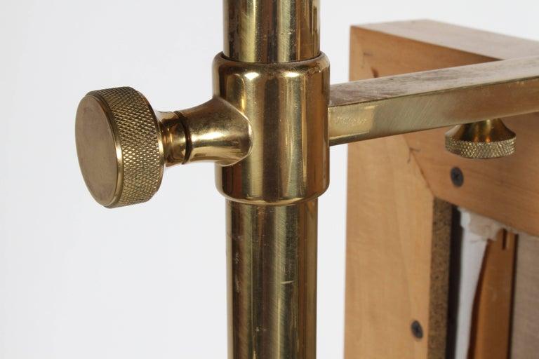 Arredoluce Brass Art Easel with Lamp by Angelo Lelli For Sale 8