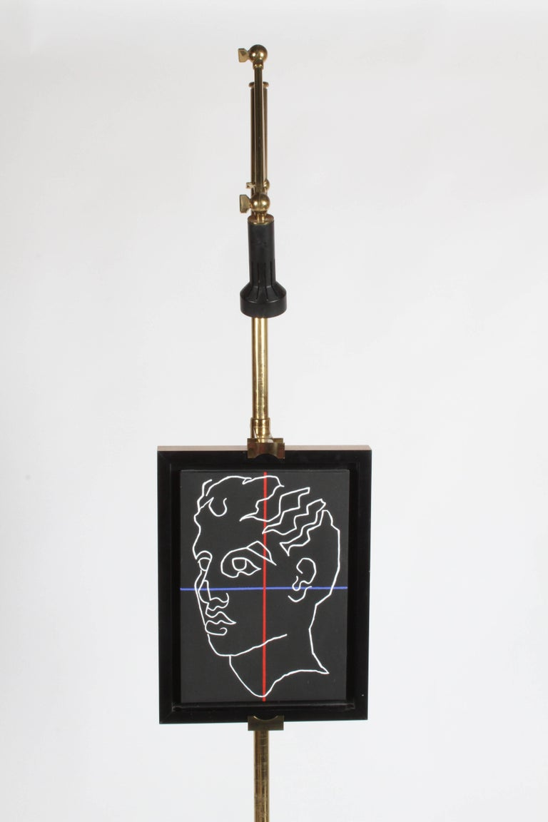 Mid-20th Century Arredoluce Brass Art Easel with Lamp by Angelo Lelli For Sale