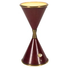 "Arredoluce Midcentury Oxblood ""Clessidra"" Table Lamp, 1960s"