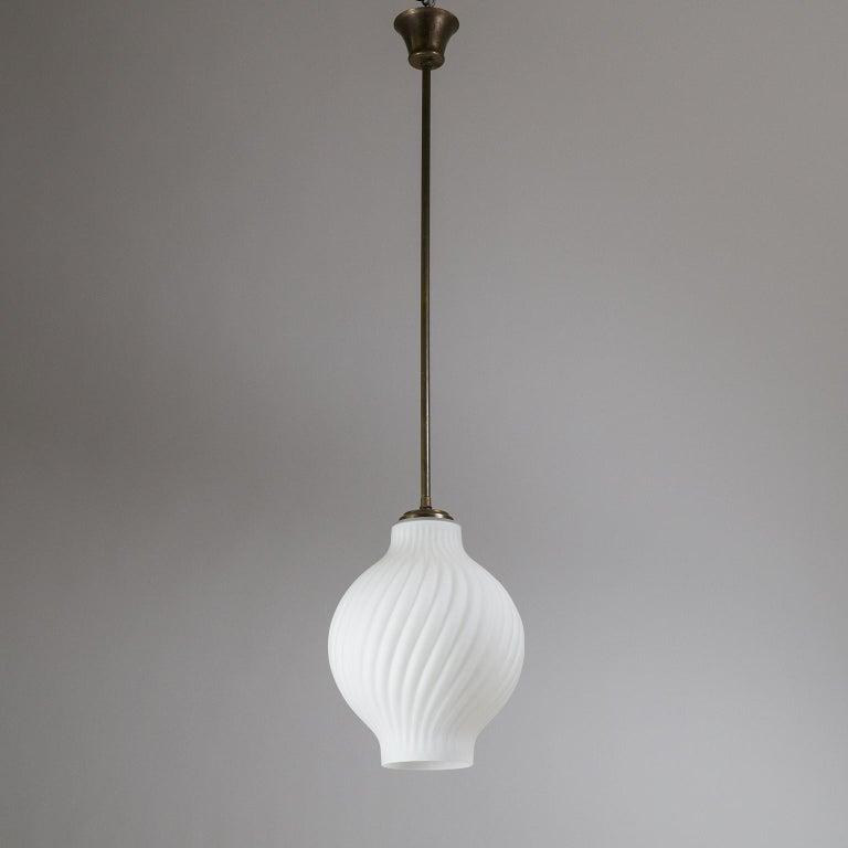 Italian Satin Glass Pendant, 1950s For Sale 8