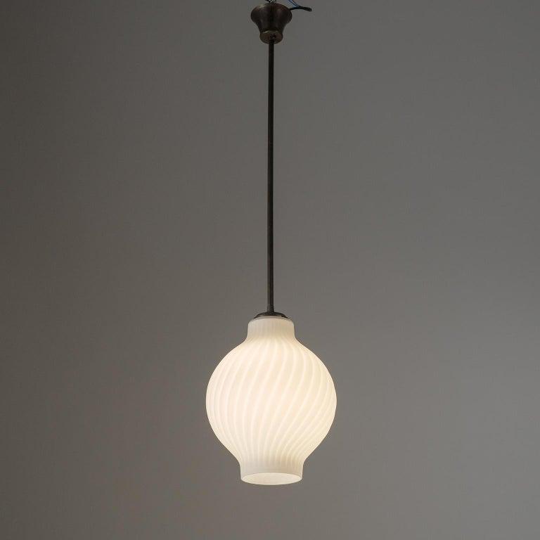 Italian Satin Glass Pendant, 1950s For Sale 9
