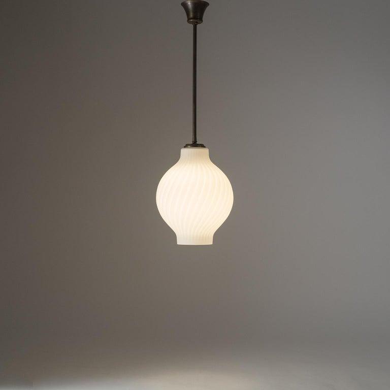 Italian Satin Glass Pendant, 1950s For Sale 10