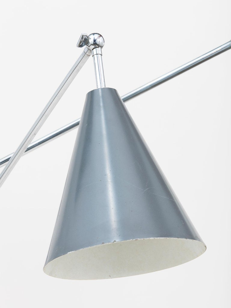 Mid-Century Modern Arredoluce Three-Arm Floor Lamp For Sale