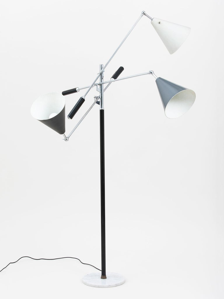 Arredoluce Three-Arm Floor Lamp In Excellent Condition For Sale In New York, NY