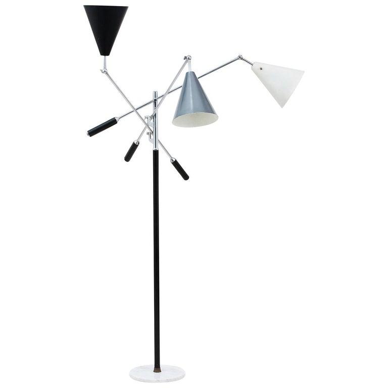 Arredoluce Three-Arm Floor Lamp For Sale