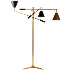 Arredoluce Triennale Brass Floor Lamp Designed by Angelo Lelii Model 12128