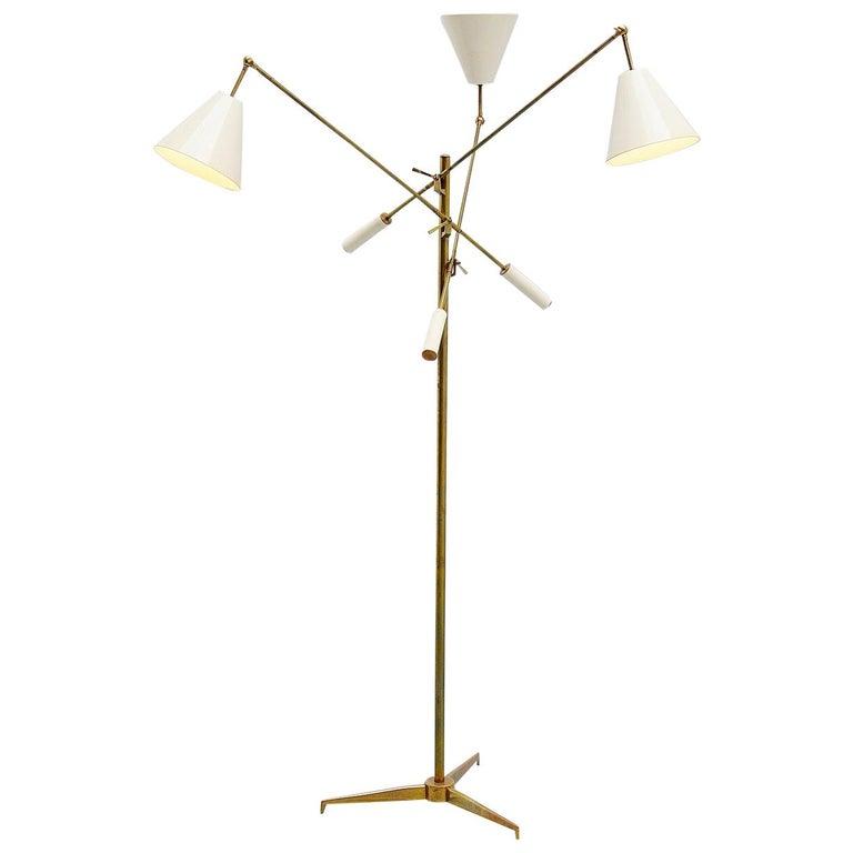 Arredoluce Triennale Floor Lamp Angelo Lelli, Italy, 1947 For Sale