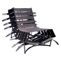 """Arreio"" Lounge Chair in Black  - Available in NY"