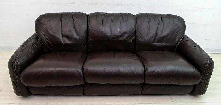 Post-Modern Arrigoni Arrigo Modern Italian Genuine Leather Sofa