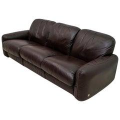 "Arrigoni Arrigo Modern Italian Genuine Leather Sofa ""Piumotto"" for Busnelli"