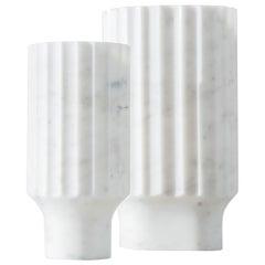 Arroka Vase Large Arabescato 'White' Marble