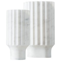 Arroka Vase Groß Arabescato 'Weißer' Marmor