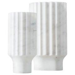 Arroka Vase Medium Arabescato 'White' Marble
