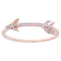 Arrow Diamond 18 Karat Gold Ring