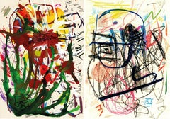 Untitled 7 and Untitled 3, set from the series of Public on Paper