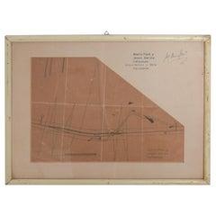 Art Architectural Sketch by Mario Pani and Jesus Garcia Collantes, 1947