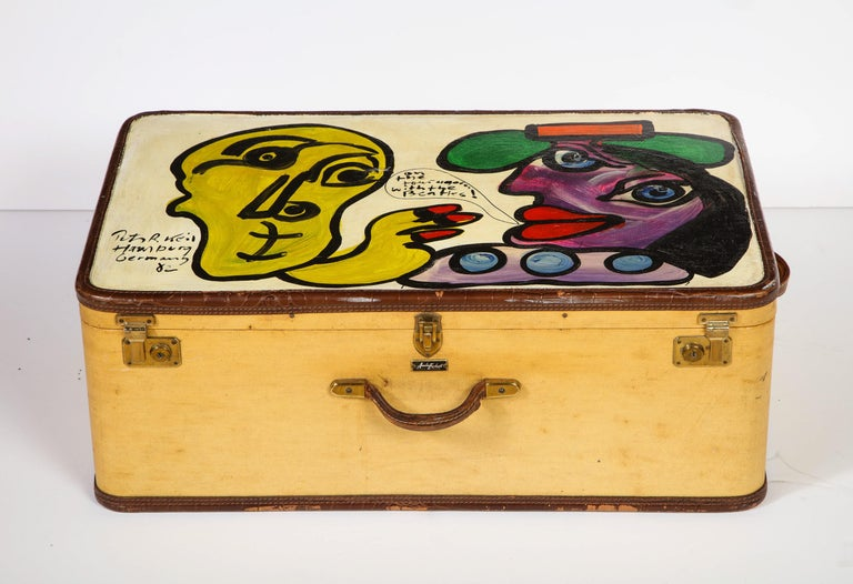 Art by Peter Keil, Suit Case, Green, Purple and Yellow, Modern Art, Travel Trunk For Sale 8