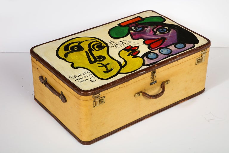 Art by Peter Keil, Suit Case, Green, Purple and Yellow, Modern Art, Travel Trunk For Sale 9