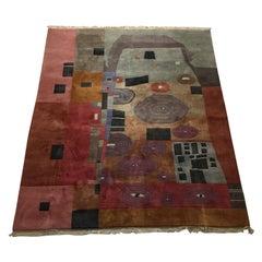 Art Carpet by Makis Warlamis Hommage to Gustav Klimt, Austria, 1990s