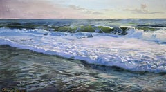 OBX III, Ocean Landscape from the Outer Banks, North Carolina, Oil on Panel