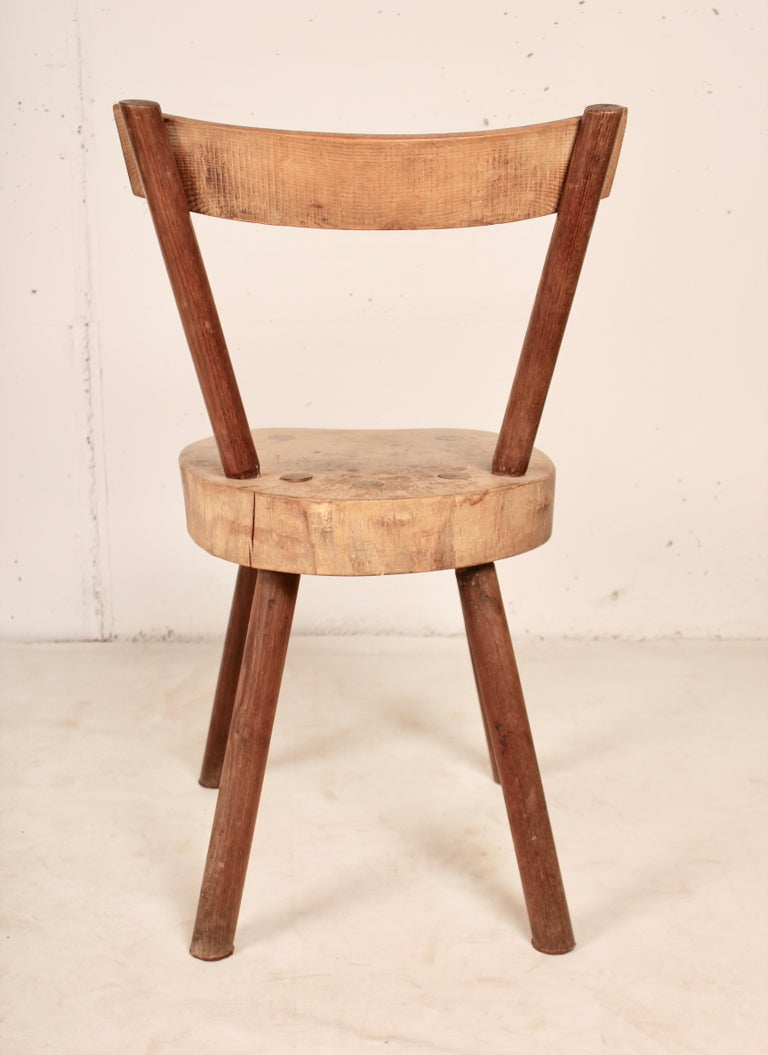 French Arts & Crafts chairs from Aveyron For Sale