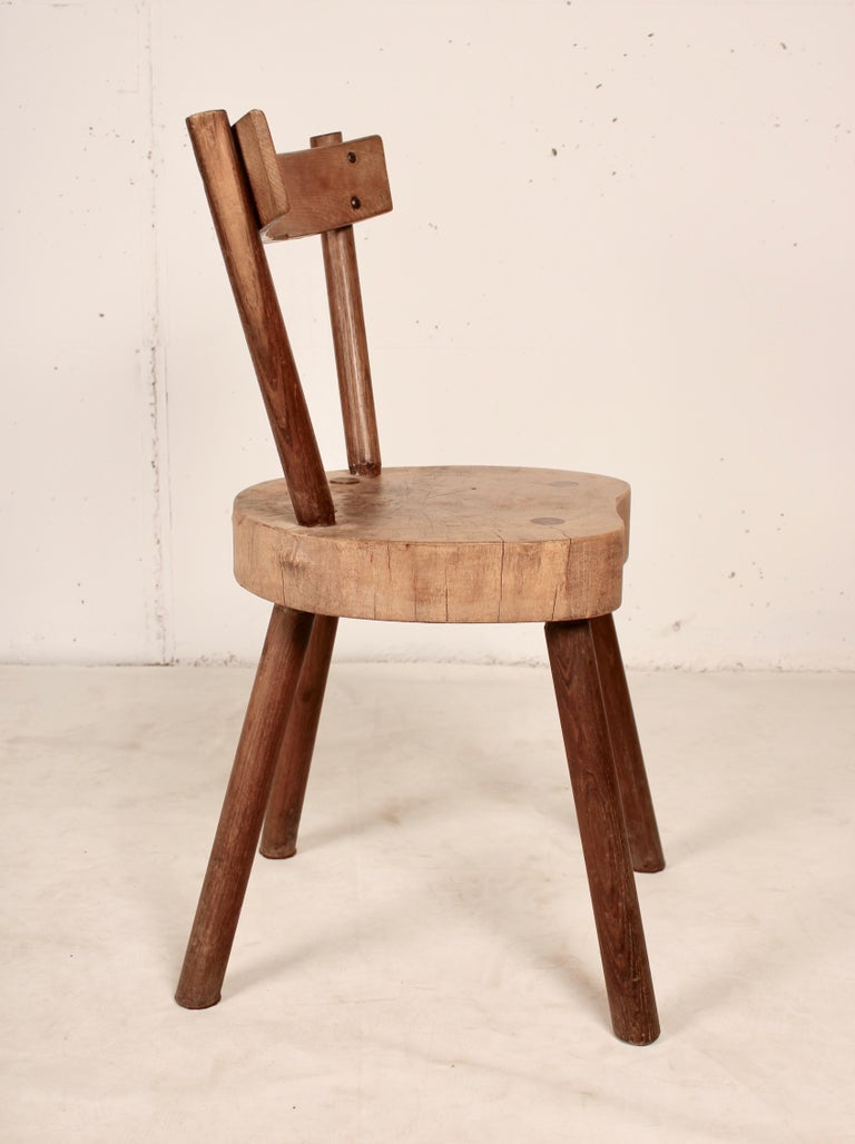 Wood Arts & Crafts chairs from Aveyron For Sale