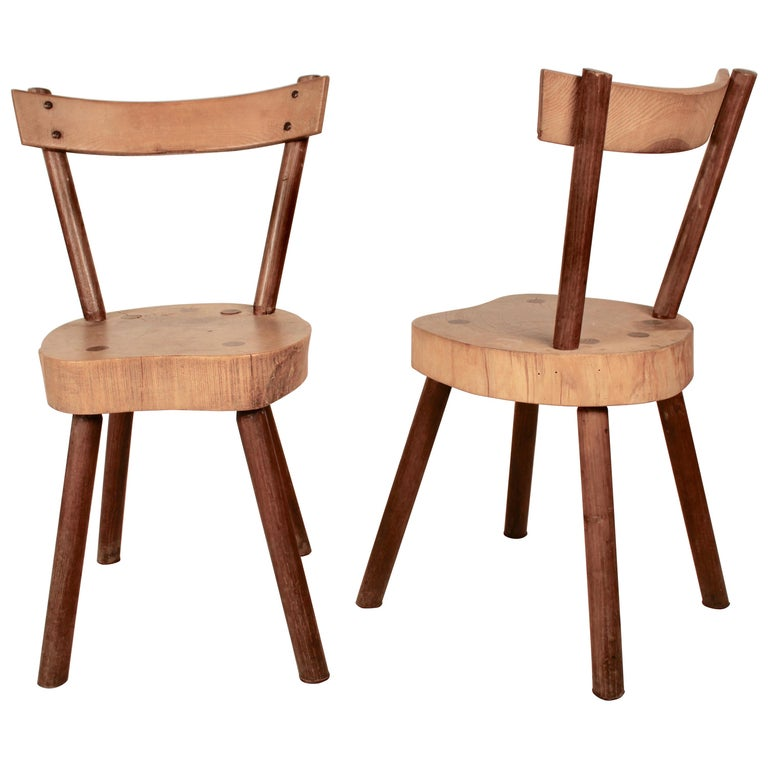 Arts & Crafts chairs from Aveyron For Sale