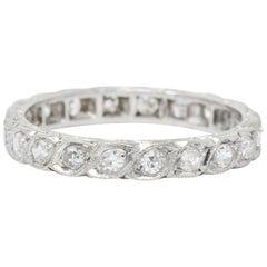 Art Deco 0.40 Carat Diamond Platinum Eternity Band Ring
