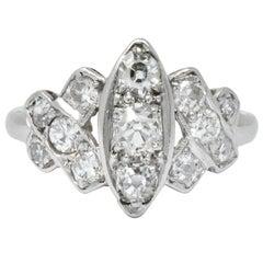 Art Deco 0.42 Carat Diamond Platinum Dinner Ring