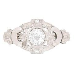 Art Deco 0.50 Carat Diamond Cluster Ring, circa 1920s
