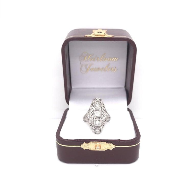 Art Deco 0.50 CTW Diamond Dinner Ring For Sale 5