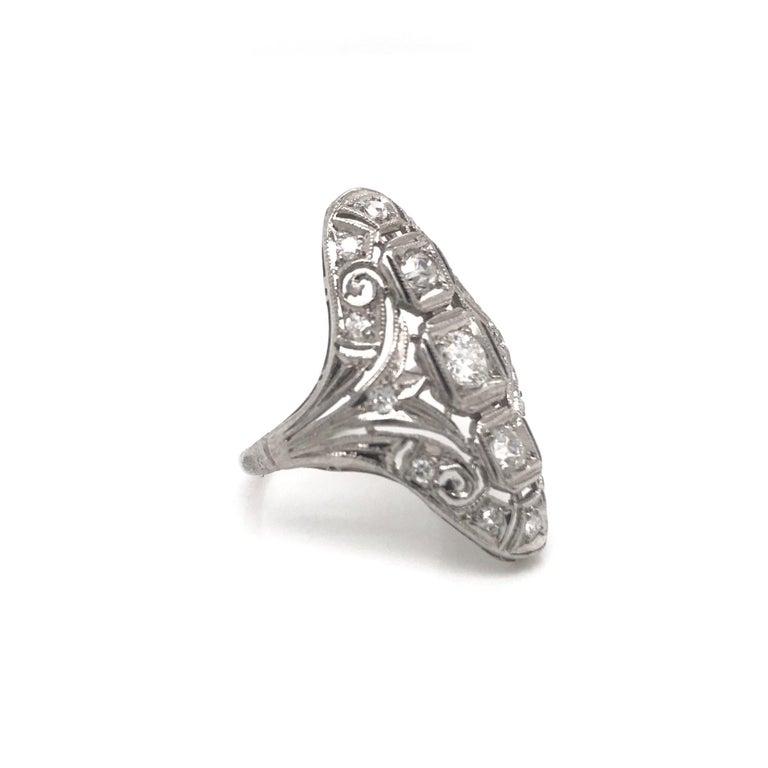 Art Deco 0.50 CTW Diamond Dinner Ring In Good Condition For Sale In Montgomery, AL