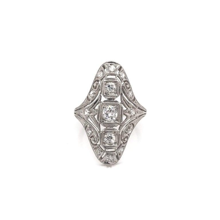 Women's Art Deco 0.50 CTW Diamond Dinner Ring For Sale