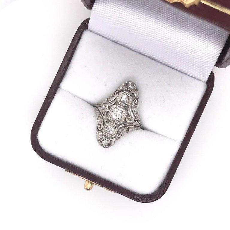 Art Deco 0.50 CTW Diamond Dinner Ring For Sale 1