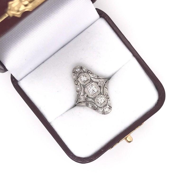 Art Deco 0.50 CTW Diamond Dinner Ring For Sale 2