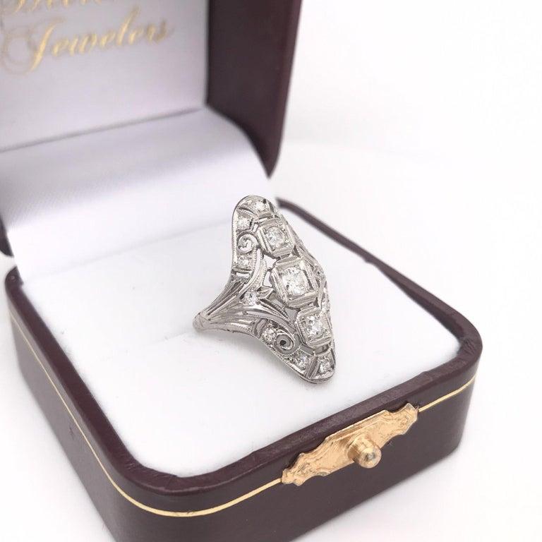 Art Deco 0.50 CTW Diamond Dinner Ring For Sale 4