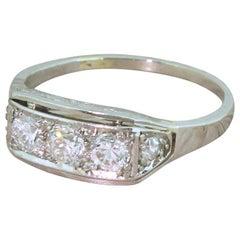 Art Deco 0.54 Carat Old Cut Diamond Trilogy Ring