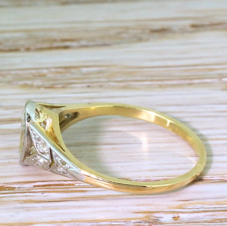 Art Deco 0.54 Carat Old Marquise Cut Diamond Engagement Ring In Good Condition For Sale In Essex, GB