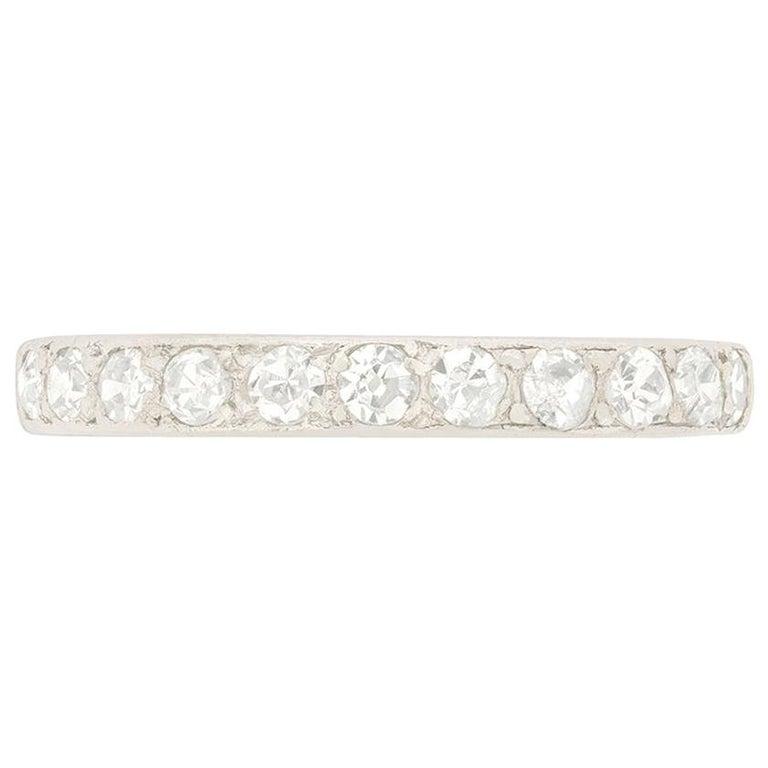 Art Deco 0.55 Carat Diamond Half Eternity Ring, circa 1920s For Sale