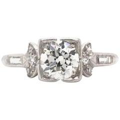 Art Deco 0.75 Carat Diamond Solitaire Ring