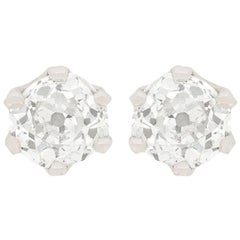 Art Deco 0.80 Carat Diamond Stud Earrings, circa 1930s