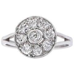 Art Deco 0.85 Carat Diamond Platinum Antique Engagement Ring
