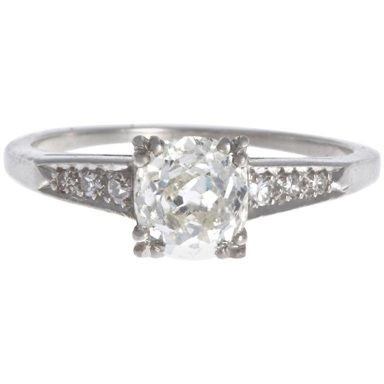 Art Deco 0.92 Carat Diamond Platinum Ring