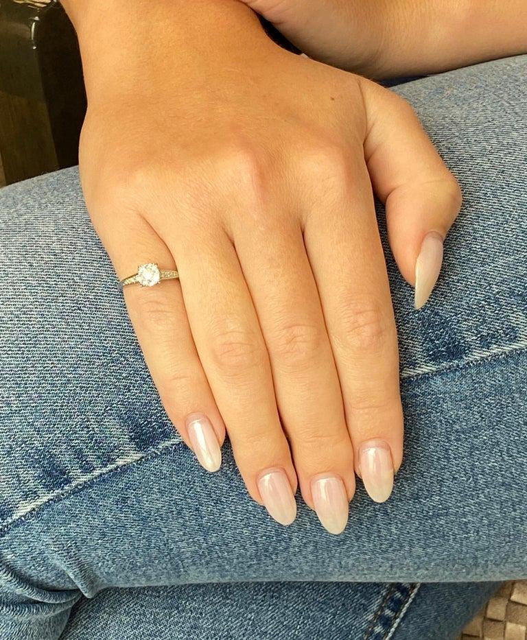 Old Mine Cut Art Deco 0.92 Carat Diamond Platinum Ring