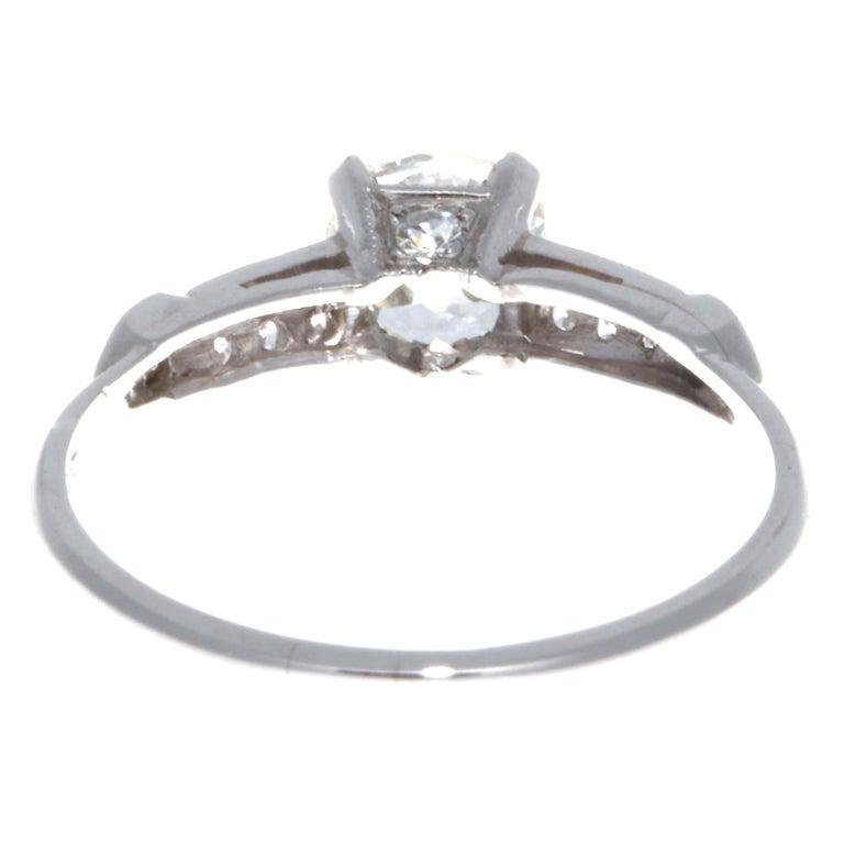 Art Deco 0.92 Carat Diamond Platinum Ring 2