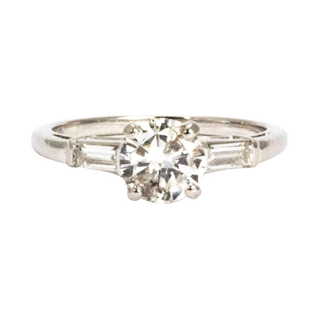 Art Deco 1 Carat Diamond and Platinum Solitaire