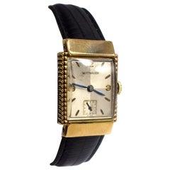 Art Deco 10 Karat Gold Filled Wittnauer Gents Wristwatch